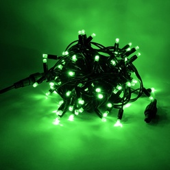 decoLED LED șirag - 5 m, verde, 50 diode