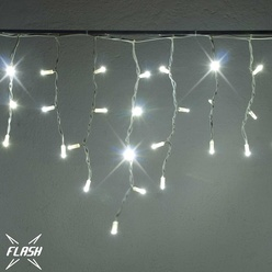 decoLED LED instalație tip țurțuri - alb rece - 3x0,5m, 114 LED, efect FLASH, decoLED